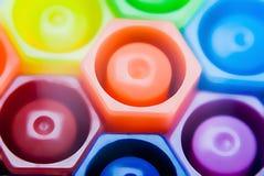 Magische Farbstifte Stockfotos
