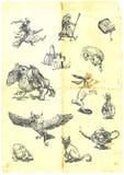 Magische fee-verhaal karakters Stock Afbeeldingen