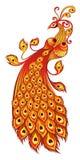 Magische firebird op een witte achtergrond royalty-vrije illustratie