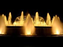 Magische fontein in Barcelona stock foto's