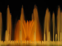 Magische fontein van Montjuic Stock Afbeelding
