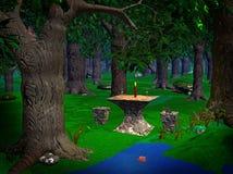 Magische Forrest Stock Foto