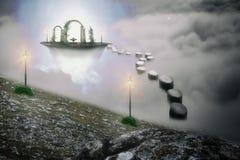 magische fountian Stock Afbeelding