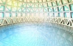 Magische geestelijke architecturale zwembadkoepel Stock Foto's