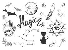 Magische geplaatste voorwerpen Stock Foto