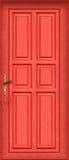 Magische gesamte rote Tür Lizenzfreies Stockfoto