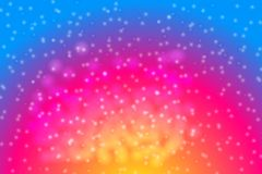 Magische girly abstracte gradiëntbanner royalty-vrije illustratie