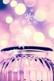 Magische Glasgefäß- und bokehlichter Lizenzfreie Stockfotografie