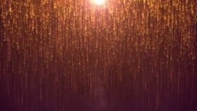 Magische gouden deeltjes royalty-vrije illustratie