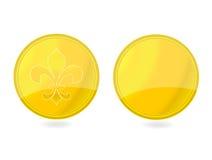 Magische gouden geplaatste markeringsemblemen Royalty-vrije Stock Foto's