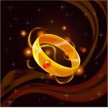 Magische gouden ring Stock Foto's