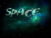 Magische groene ruimte, vector illustratie