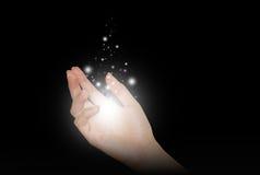Magische Hand Stock Foto's