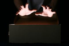 Magische handen Royalty-vrije Stock Foto's