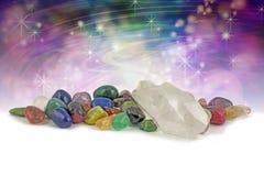 Magische heilende Kristalle Stockbild