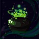 Magische heksenpot Stock Foto