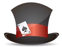 Magische hoed en aaskaartillustratie Stock Foto