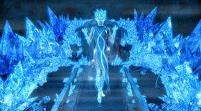 Magische ijskoningin Stock Foto's