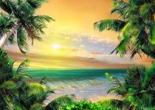 Magische Küste am Abend Stockfotos