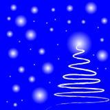 Magische Kerstmisnacht vector illustratie