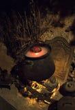 Magische ketelrook royalty-vrije stock foto's