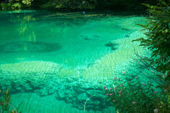 Magische kleuren in Plitvice meer, Kroatië Royalty-vrije Stock Afbeelding