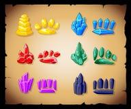 Magische Kristalle und Steine Lizenzfreie Abbildung