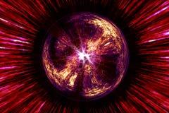 Magische Kugel mit mystischen lightrays lizenzfreie abbildung