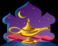Magische lamp vector illustratie