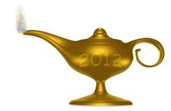 Magische Lamp 2012 Royalty-vrije Stock Afbeelding
