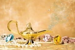 Magische lamp Stock Foto's