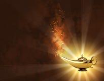 Magische lamp Royalty-vrije Stock Afbeeldingen