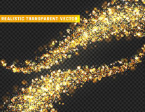 Magische lichteffecttextuur Het realistische deeltje schittert sterren, harten, cirkelsvlekken royalty-vrije illustratie