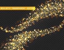 Magische lichteffecttextuur Het realistische deeltje schittert sterren, harten, cirkelsvlekken vector illustratie