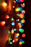 Magische lichten van het Nieuwjaar royalty-vrije stock fotografie