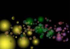 Magische lichtenachtergrond Royalty-vrije Stock Afbeeldingen