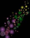 Magische lichtenachtergrond Stock Afbeelding