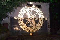 Magische Lichter in Gruga-Park, Deutschland Lizenzfreie Stockbilder