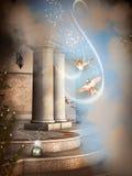 Magische liefdeduif in de hemel Stock Foto