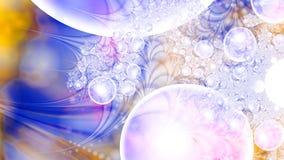 Magische luchtbellen microcosm Cluster van planeten Stock Foto