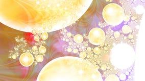 Magische luchtbellen microcosm Cluster van planeten Royalty-vrije Stock Afbeelding