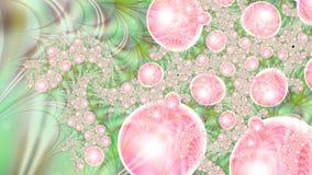 Magische luchtbellen microcosm Cluster van planeten Stock Afbeelding