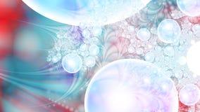 Magische luchtbellen microcosm Cluster van planeten Royalty-vrije Stock Afbeeldingen