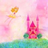 Magische Märchen-Prinzessin Castle Stockfotografie