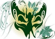 Magische meisje-vlinder Royalty-vrije Stock Foto's