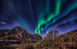 Magische nacht en magisch licht Stock Foto's