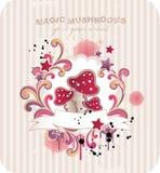 Magische paddestoelen royalty-vrije illustratie
