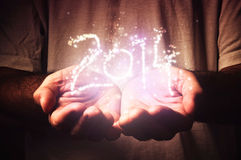 2014, magische Partikel Lizenzfreies Stockbild