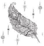 Magische Pen in de stijl van Zen-art. Stock Afbeeldingen