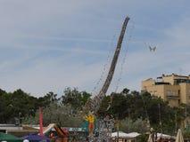 Magische Piper Kite stock afbeeldingen